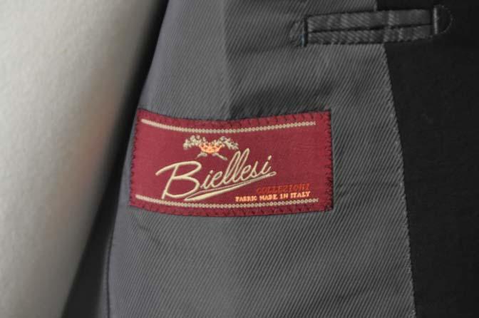 DSC0460 お客様のスーツの紹介-Biellesi ブラックスーツ-