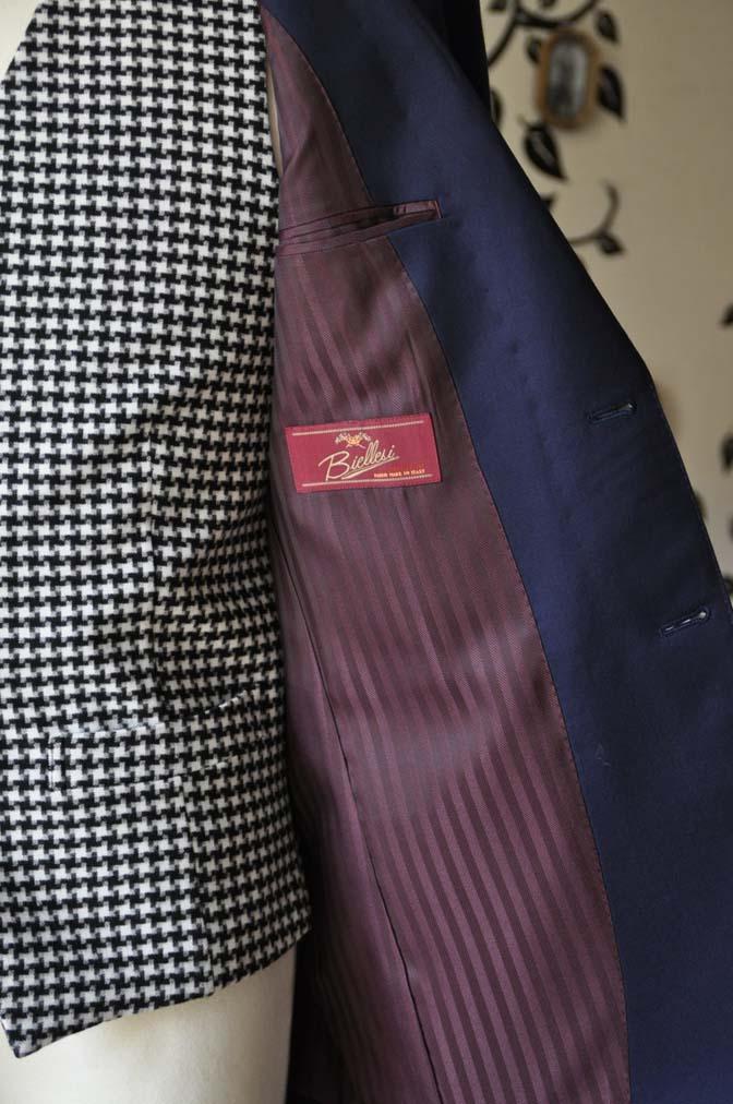 DSC0462-2 お客様のウエディング衣装の紹介- Biellesi無地ネイビースーツ 千鳥格子ベスト- 名古屋の完全予約制オーダースーツ専門店DEFFERT