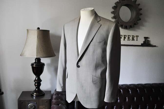 DSC0464-3 お客様のスーツの紹介- Biellesi ライトブラウンヘリンボーンスーツ-