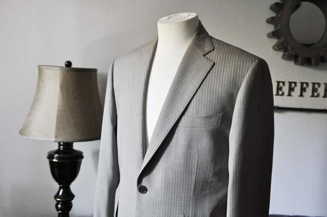 DSC0466-2 お客様のスーツの紹介- Biellesi ライトブラウンヘリンボーンスーツ-