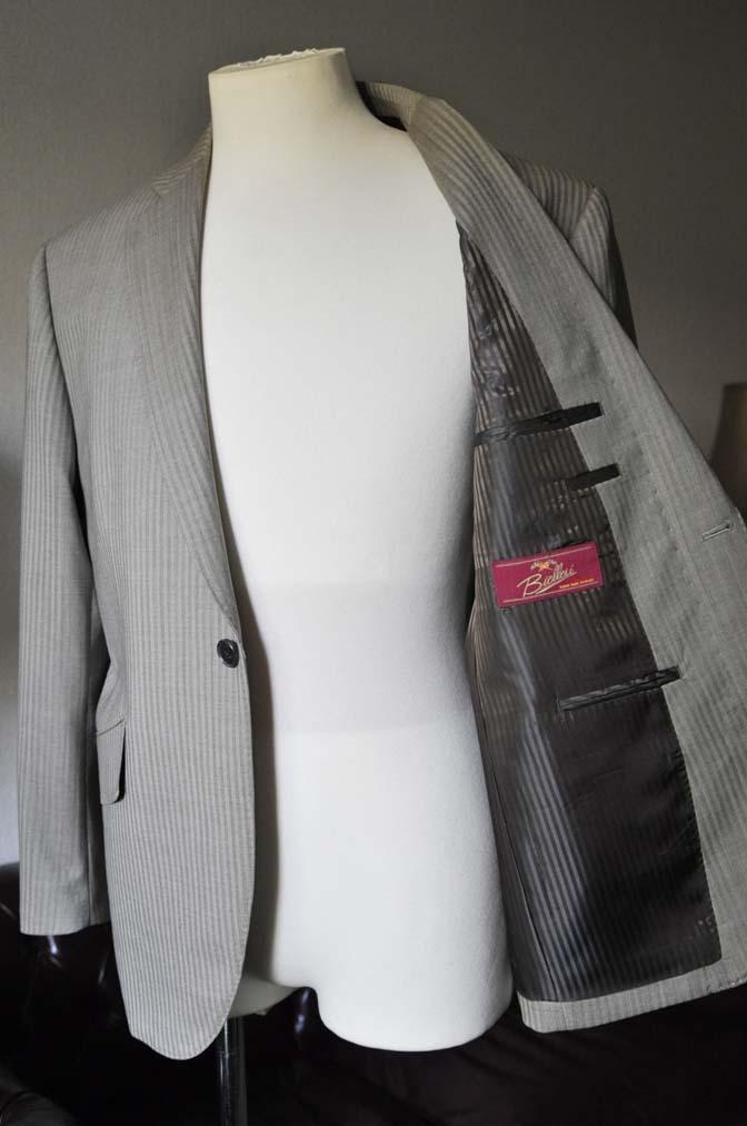 DSC0467-2 お客様のスーツの紹介- Biellesi ライトブラウンヘリンボーンスーツ-