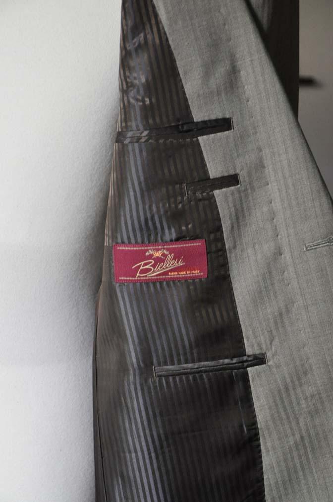 DSC0468-3 お客様のスーツの紹介- Biellesi ライトブラウンヘリンボーンスーツ-
