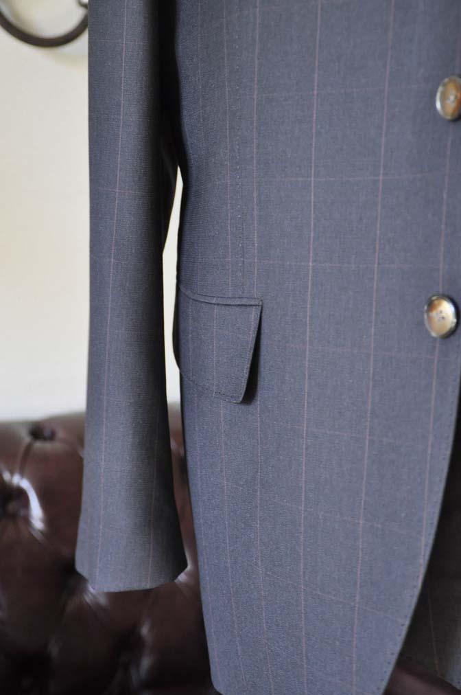 DSC0468-4 お客様のスーツの紹介-Biellesiダークブラウンウィンドペン スリーピース-