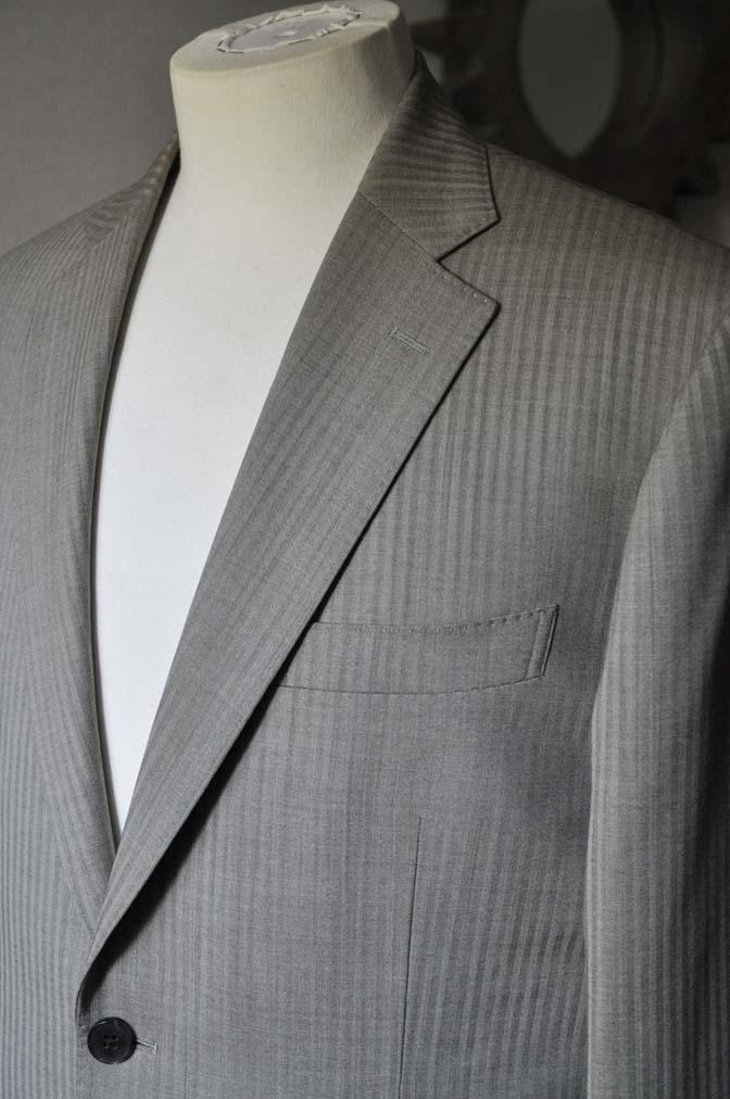 DSC0470-2 お客様のスーツの紹介- Biellesi ライトブラウンヘリンボーンスーツ-