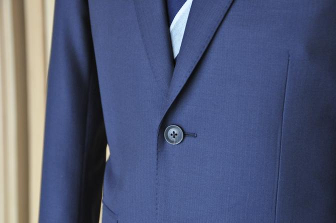 DSC0470-4 オーダースーツの紹介-MARLANEネイビーヘリンボーンスーツ- 名古屋の完全予約制オーダースーツ専門店DEFFERT