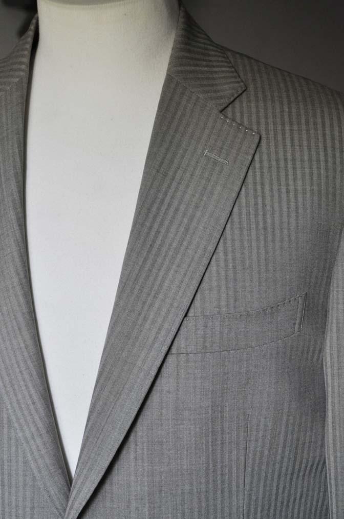 DSC0471-2 お客様のスーツの紹介- Biellesi ライトブラウンヘリンボーンスーツ-
