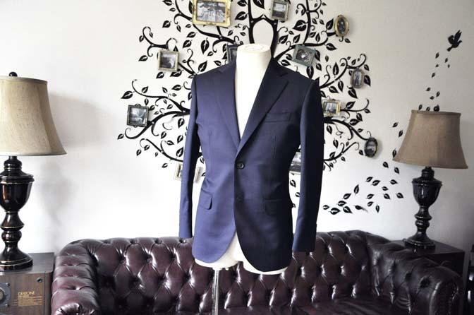 DSC0471-6 お客様のスーツの紹介-Biellesi無地ネイビースーツ-