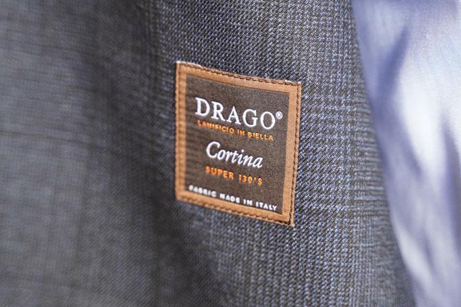 DSC04739 オーダージャケットの紹介-DRAGO ネイビーグレー グレンチェックジャケット-