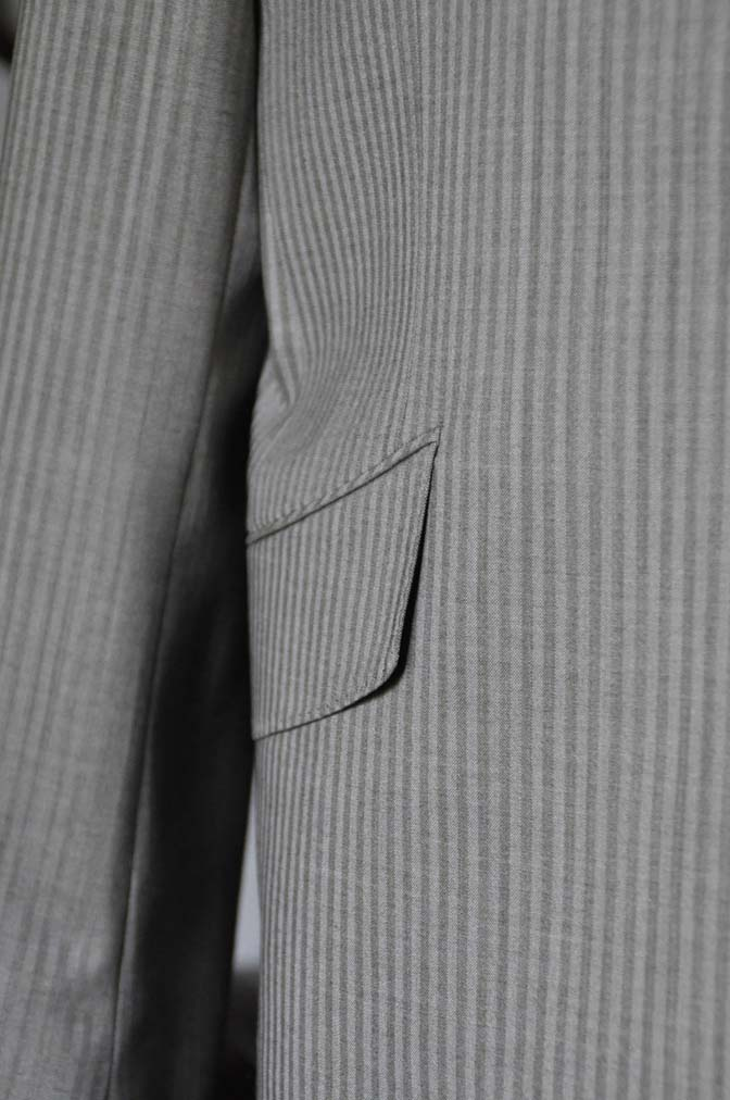 DSC0474-1 お客様のスーツの紹介- Biellesi ライトブラウンヘリンボーンスーツ-