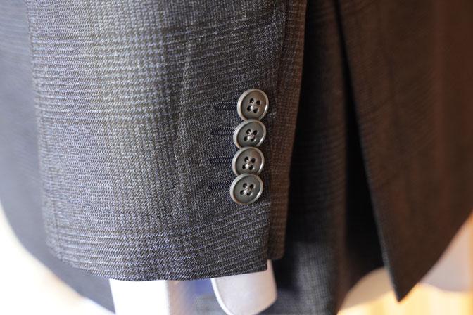 DSC04744 オーダージャケットの紹介-DRAGO ネイビーグレー グレンチェックジャケット-