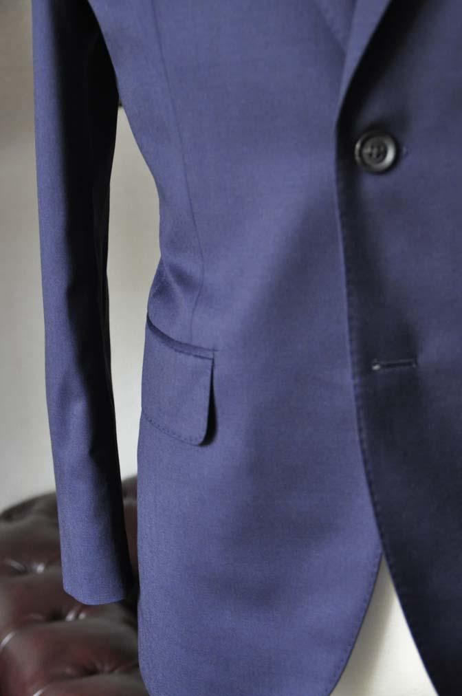 DSC0478-5 お客様のスーツの紹介-Biellesi無地ネイビースーツ-