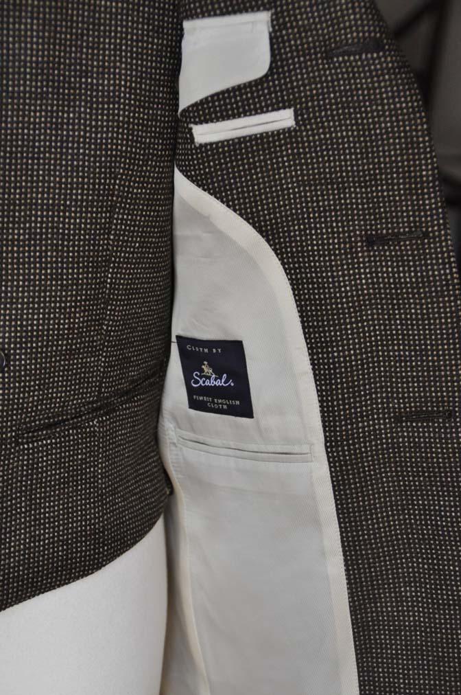 DSC0480-1 お客様のスーツの紹介- SCABAL ブラウンバーズアイ-