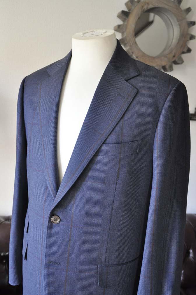 DSC0480-4 お客様のスーツの紹介- Biellesi ネイビーグレンチェックスーツ-