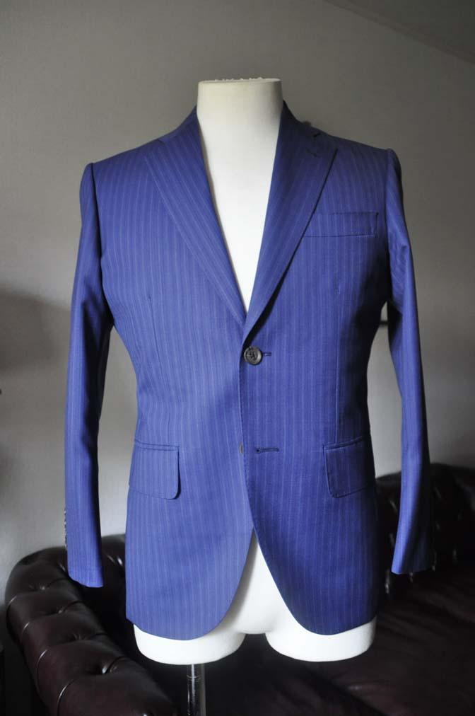 DSC0481-1 お客様のスーツの紹介- Biellesi ネイビーストライプスーツ- 名古屋の完全予約制オーダースーツ専門店DEFFERT