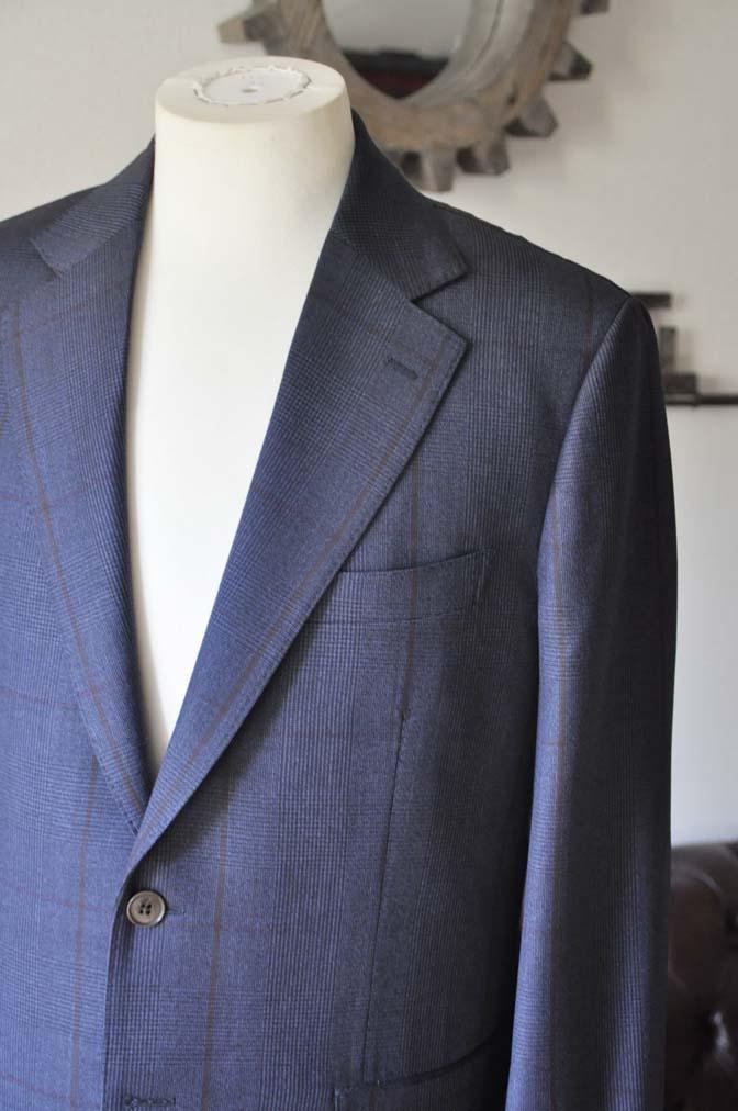 DSC0481-3 お客様のスーツの紹介- Biellesi ネイビーグレンチェックスーツ-