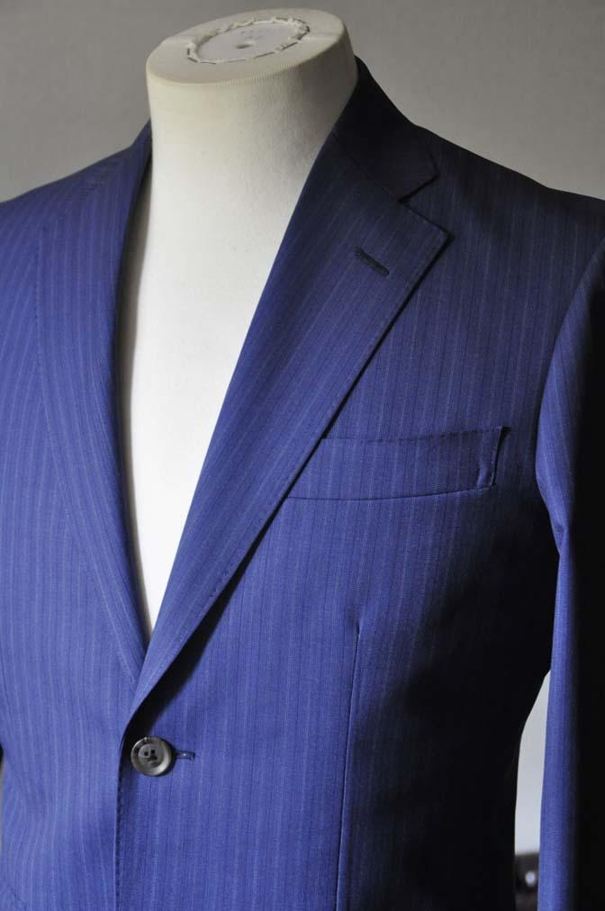 DSC0482-3 お客様のスーツの紹介- Biellesi ネイビーストライプスーツ- 名古屋の完全予約制オーダースーツ専門店DEFFERT
