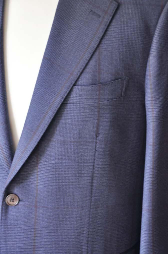 DSC0482-5 お客様のスーツの紹介- Biellesi ネイビーグレンチェックスーツ-