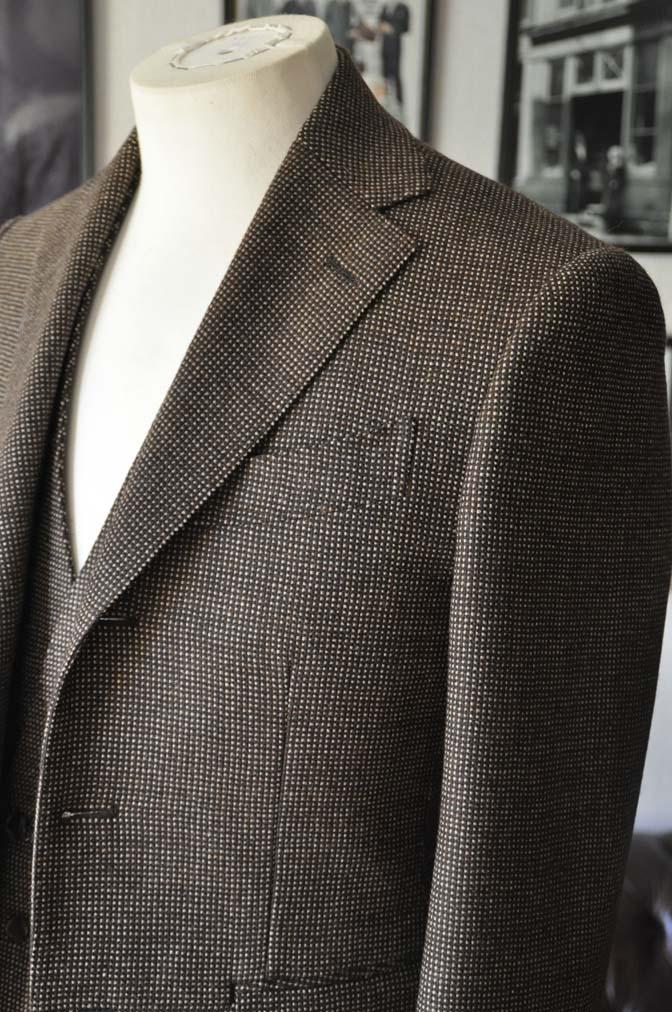 DSC0483-1 お客様のスーツの紹介- SCABAL ブラウンバーズアイ-