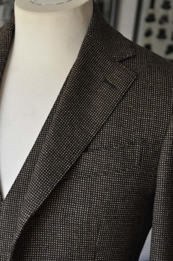 DSC0484-1 お客様のスーツの紹介- SCABAL ブラウンバーズアイ-