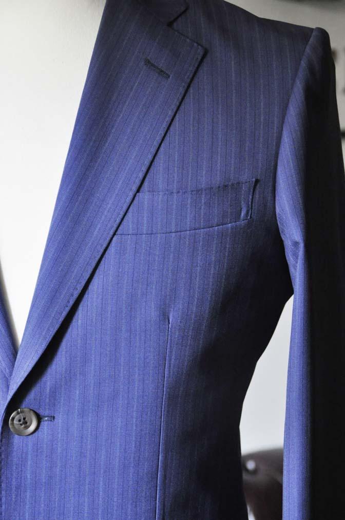 DSC0484-6 お客様のスーツの紹介- Biellesi ネイビーストライプスーツ- 名古屋の完全予約制オーダースーツ専門店DEFFERT