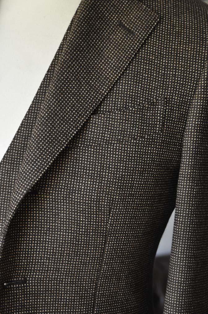 DSC0485-1 お客様のスーツの紹介- SCABAL ブラウンバーズアイ-