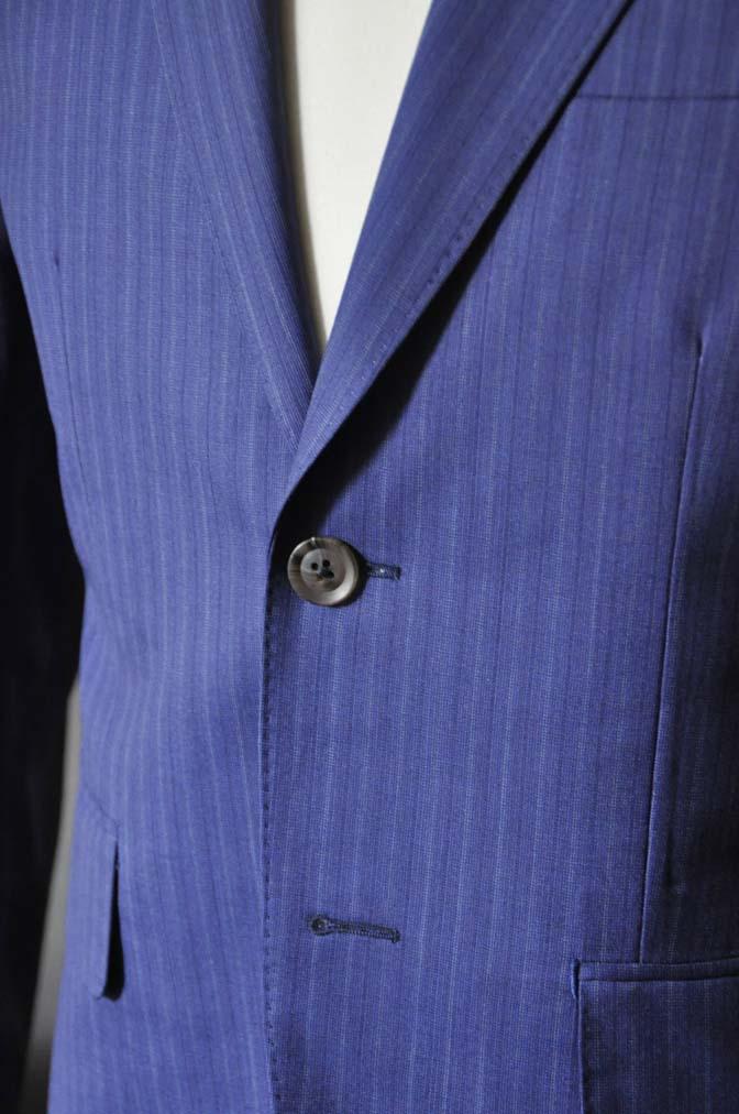 DSC0485-3 お客様のスーツの紹介- Biellesi ネイビーストライプスーツ- 名古屋の完全予約制オーダースーツ専門店DEFFERT