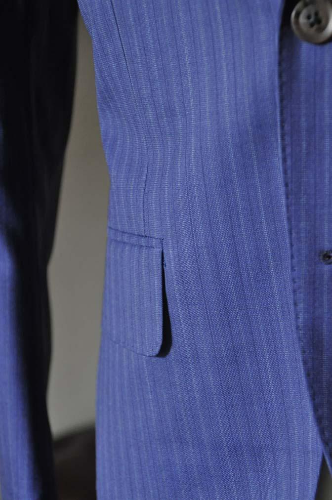 DSC0486-3 お客様のスーツの紹介- Biellesi ネイビーストライプスーツ- 名古屋の完全予約制オーダースーツ専門店DEFFERT