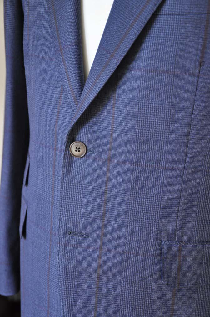 DSC0486-5 お客様のスーツの紹介- Biellesi ネイビーグレンチェックスーツ-