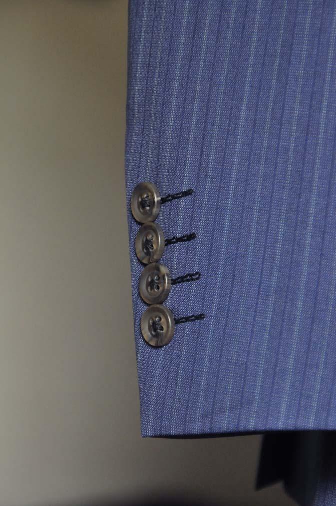 DSC0488-3 お客様のスーツの紹介- Biellesi ネイビーストライプスーツ- 名古屋の完全予約制オーダースーツ専門店DEFFERT