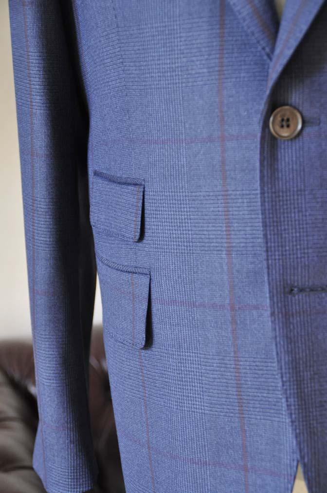 DSC0488-5 お客様のスーツの紹介- Biellesi ネイビーグレンチェックスーツ-