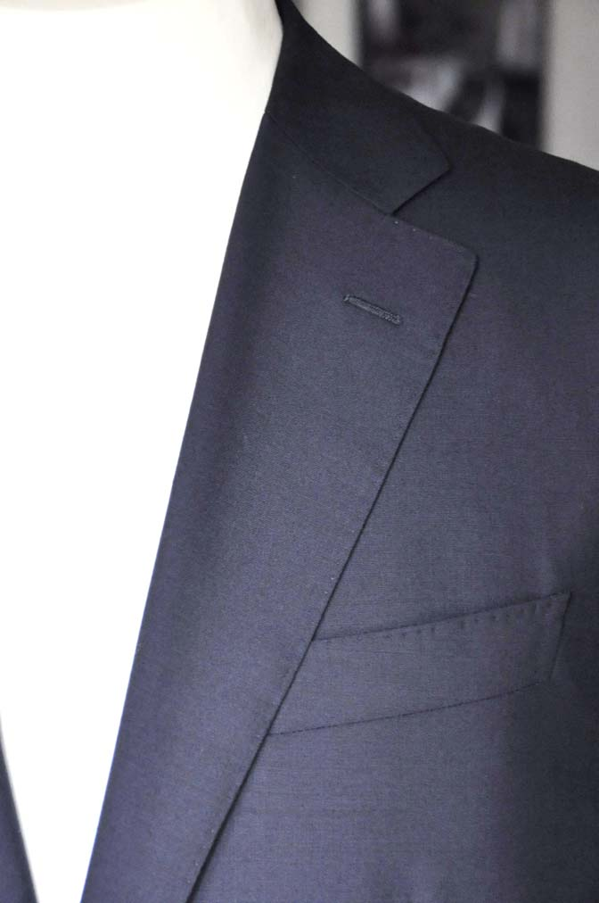 DSC04883 お客様のスーツの紹介-Biellesi 無地ネイビー-