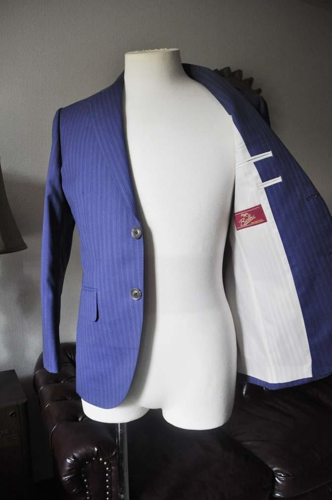 DSC0489-2 お客様のスーツの紹介- Biellesi ネイビーストライプスーツ- 名古屋の完全予約制オーダースーツ専門店DEFFERT