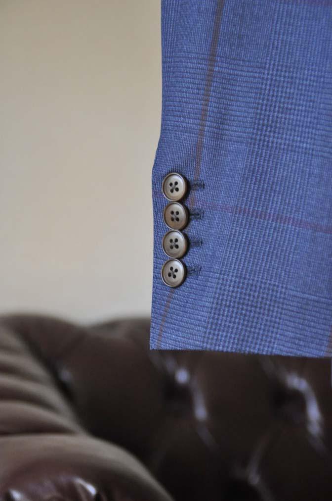 DSC0489-4 お客様のスーツの紹介- Biellesi ネイビーグレンチェックスーツ-