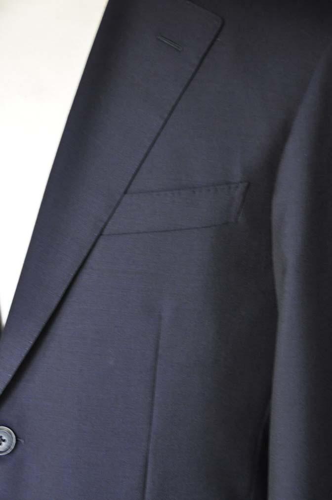 DSC04898 お客様のスーツの紹介-Biellesi 無地ネイビー-