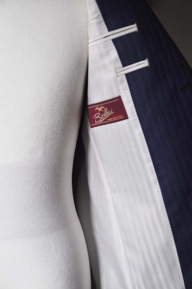 DSC0490-3 お客様のスーツの紹介- Biellesi ネイビーストライプスーツ- 名古屋の完全予約制オーダースーツ専門店DEFFERT