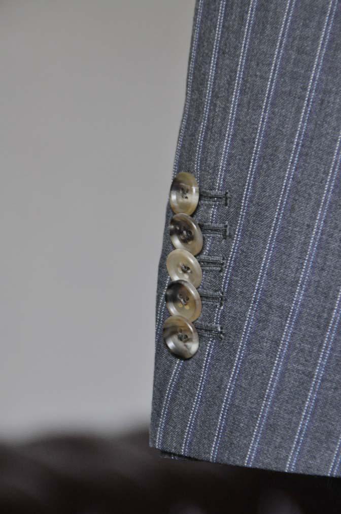 DSC0490-4 お客様のスーツの紹介- DARROW DALE グレーストライプスーツ-