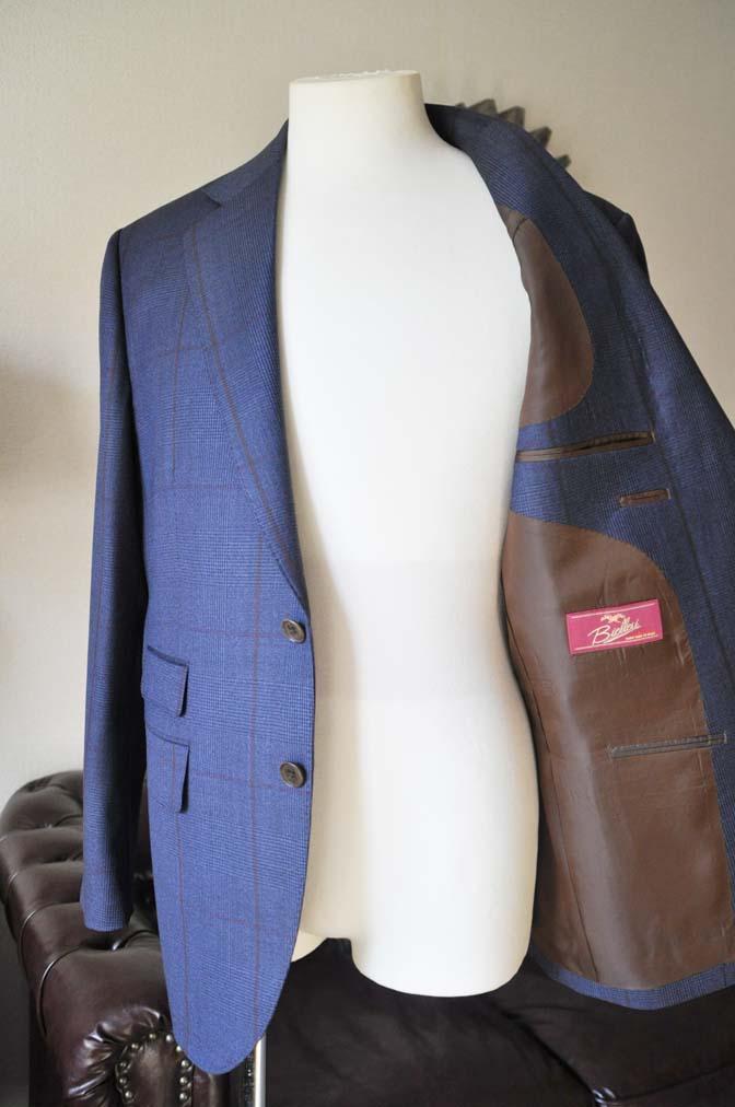 DSC0490-5 お客様のスーツの紹介- Biellesi ネイビーグレンチェックスーツ-
