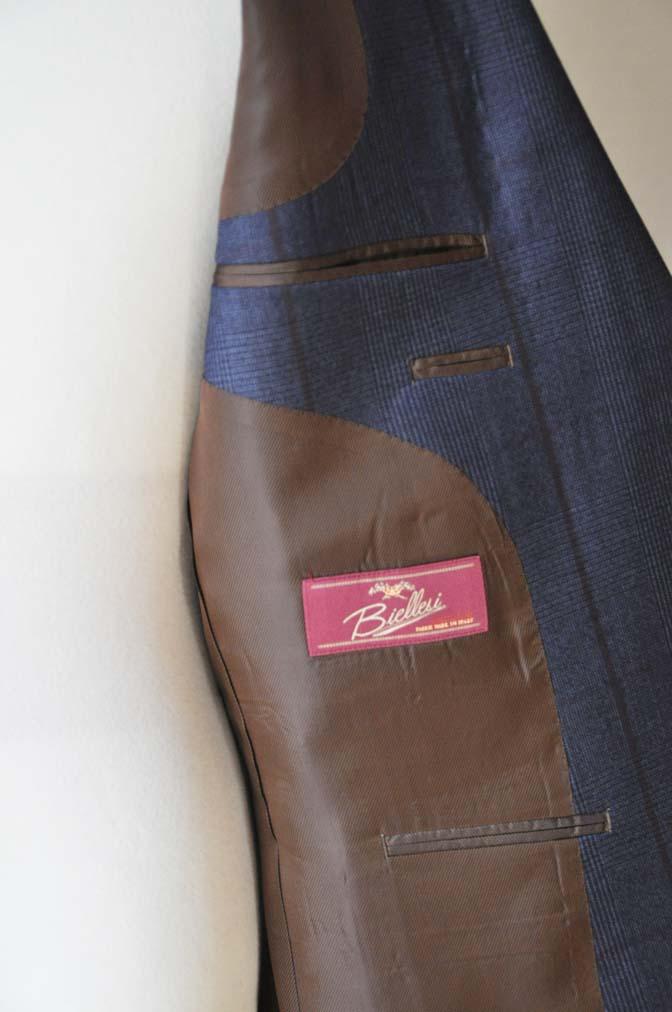 DSC0491-2 お客様のスーツの紹介- Biellesi ネイビーグレンチェックスーツ-