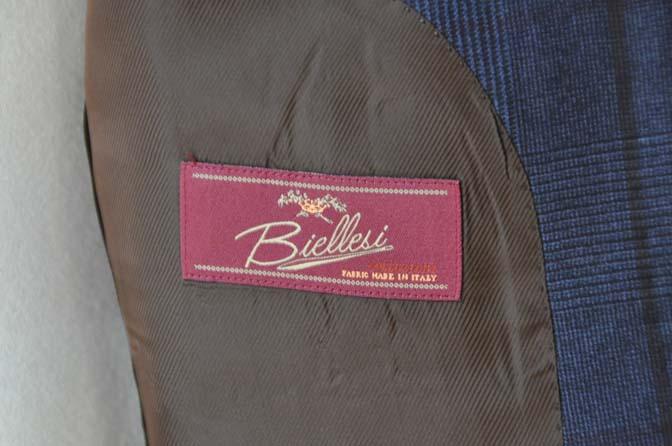 DSC0493-5 お客様のスーツの紹介- Biellesi ネイビーグレンチェックスーツ-