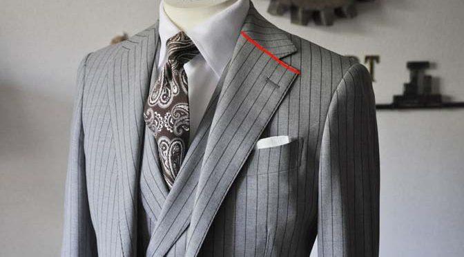スーツのパーツ名称「ノッチドラペル」
