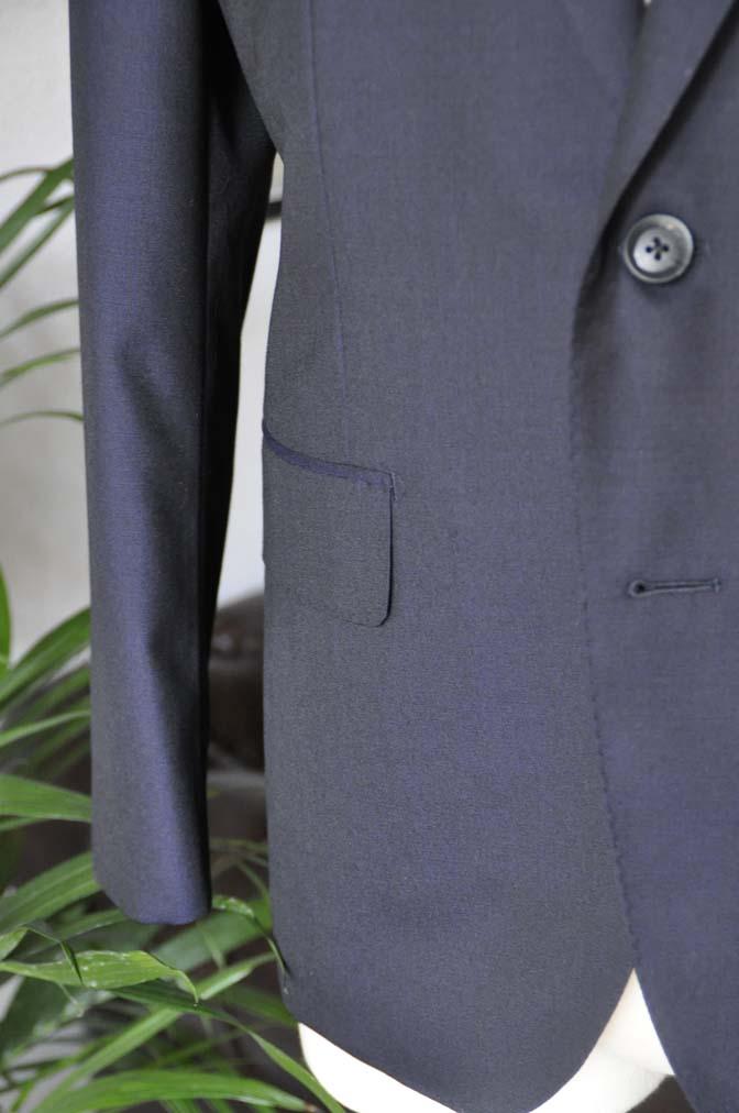 DSC04953 お客様のスーツの紹介-Biellesi 無地ネイビー-