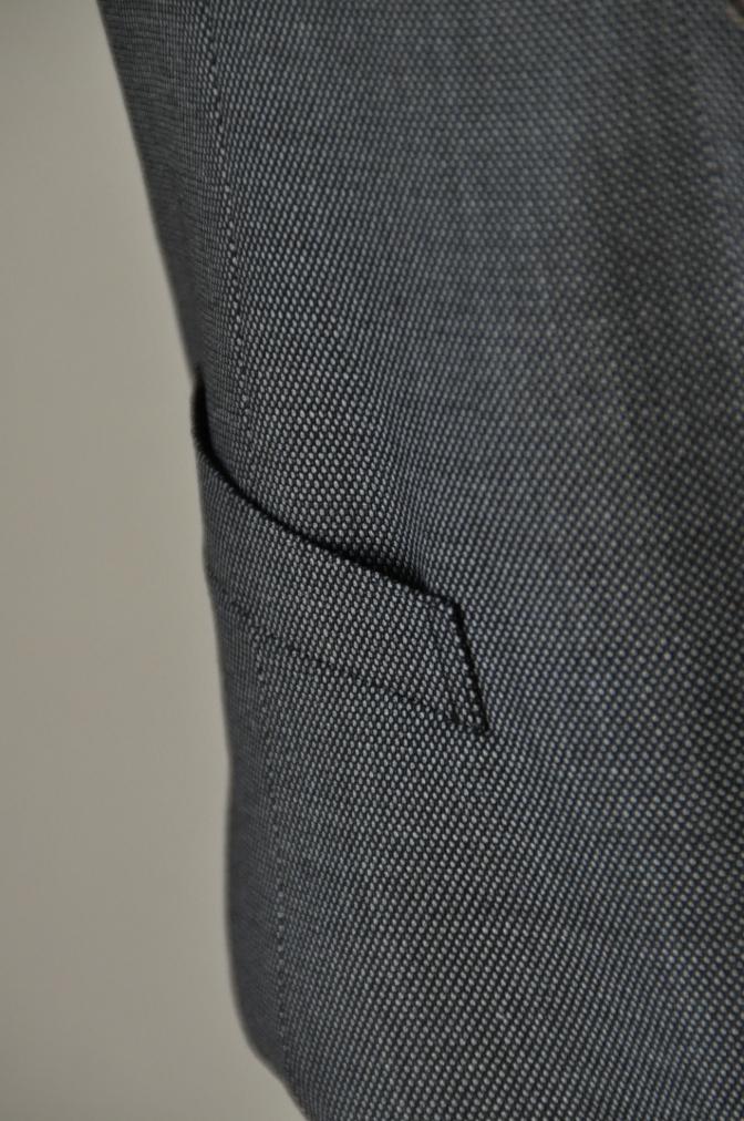 DSC05001 お客様のスーツの紹介-HOLLAND&SHERRY グレーバーズアイスリーピース-