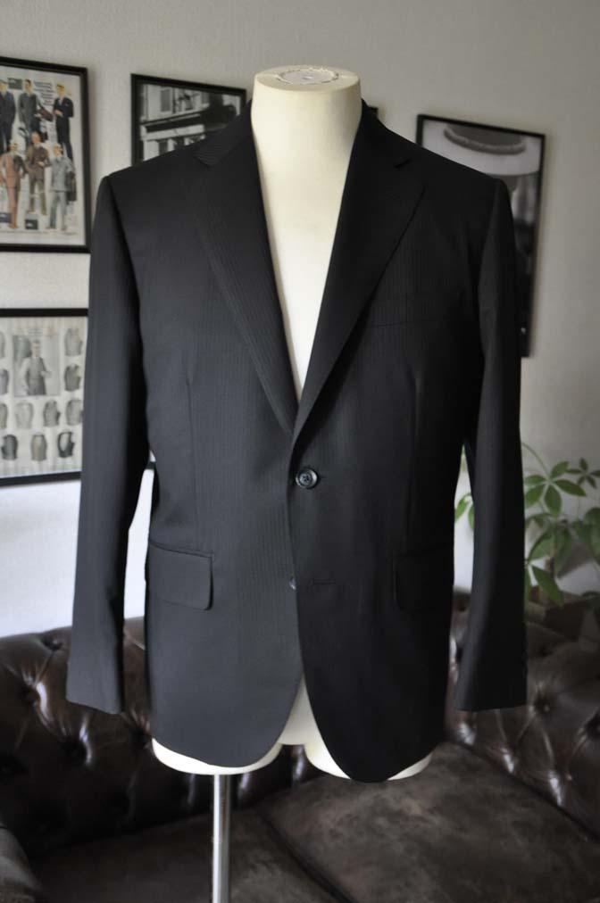 DSC05022 お客様のスーツの紹介-CANONICO ブラックヘリンボーン-