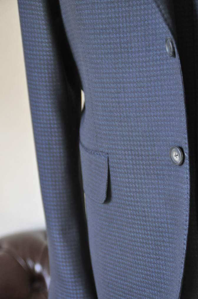 DSC0504-1 お客様のスーツの紹介- CARLO BARBERAネイビーグレーチェック スリーピース-