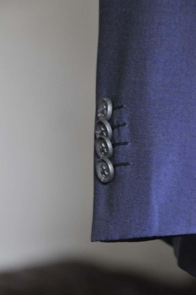 DSC0507-2 お客様のウエディング衣装の紹介-Biellesi ネイビースーツ グレーバーズアイ襟付きダブルベスト ホワイトベスト- 名古屋の完全予約制オーダースーツ専門店DEFFERT
