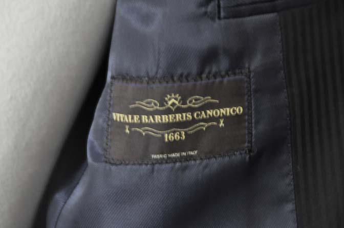 DSC05081 お客様のスーツの紹介-CANONICO ブラックヘリンボーン-