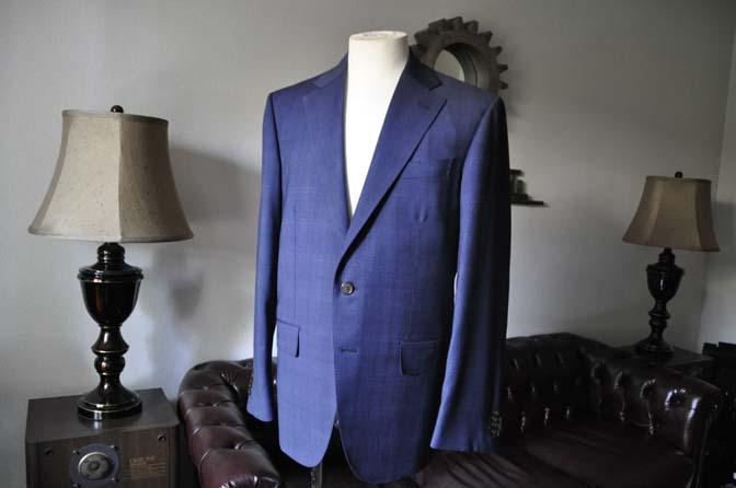 DSC0509-1 お客様のスーツの紹介- Biellesi ネイビーチェックスーツ-