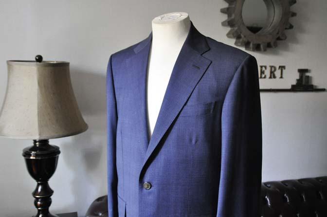 DSC0510-1 お客様のスーツの紹介- Biellesi ネイビーチェックスーツ-