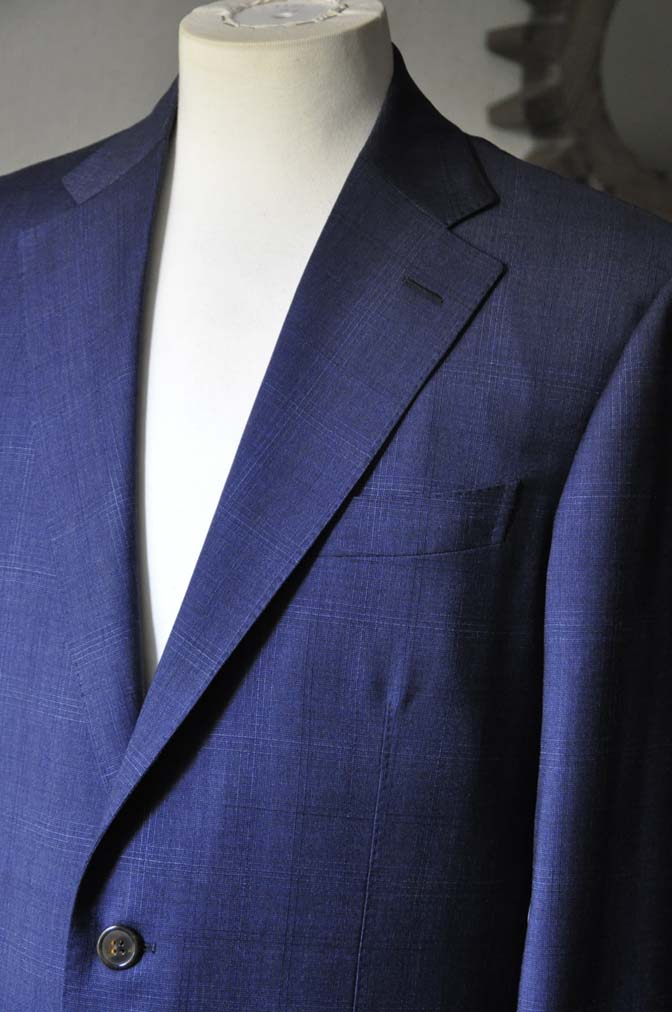 DSC0512-2 お客様のスーツの紹介- Biellesi ネイビーチェックスーツ-