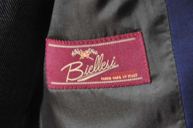 DSC0512-3 お客様のウエディング衣装の紹介-Biellesi ネイビースーツ グレーバーズアイ襟付きダブルベスト ホワイトベスト- 名古屋の完全予約制オーダースーツ専門店DEFFERT